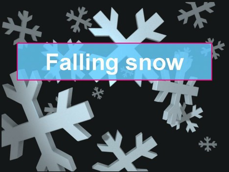Falling Snow Christmas Template