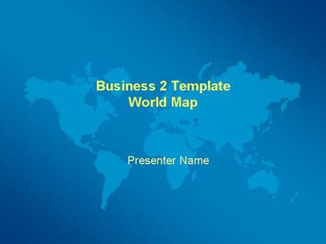 Business world map template