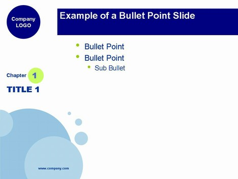 Blue Bubbles PowerPoint Template inside page