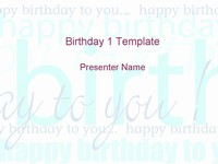 Happy Birthday Template