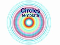 Circles Template on white