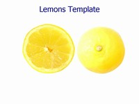 Lemons PowerPoint template