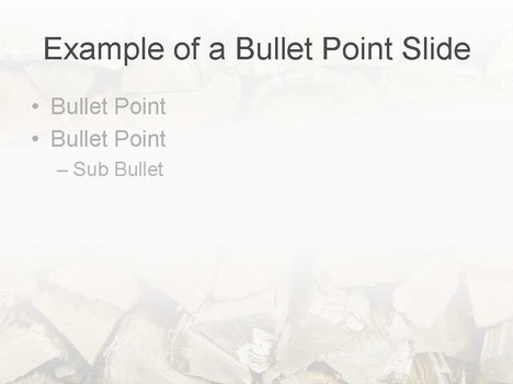 Logs PowerPoint Template inside page