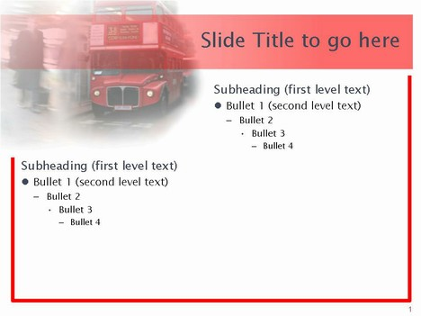 London Bus Template inside page