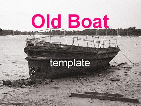 오래 된 보트 템플릿