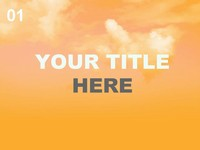 Orange Sky PowerPoint Template thumbnail