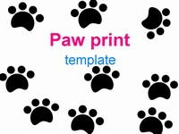 Paw prints template thumbnail
