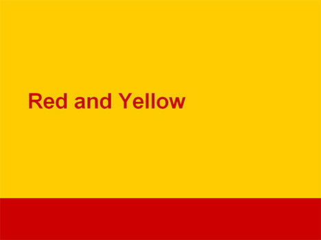 Red and yellow powerpoint template1g 25044 thecheapjerseys Choice Image