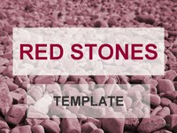 Red stones template