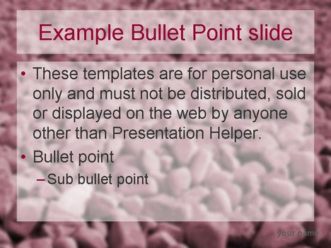 Red stones template inside page
