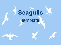 Sea Gulls ppt template thumbnail
