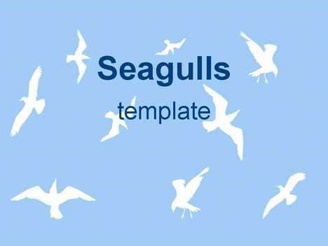 Sea gulls ppt template toneelgroepblik Choice Image