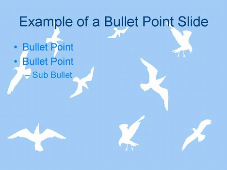 Sea Gulls ppt template inside page