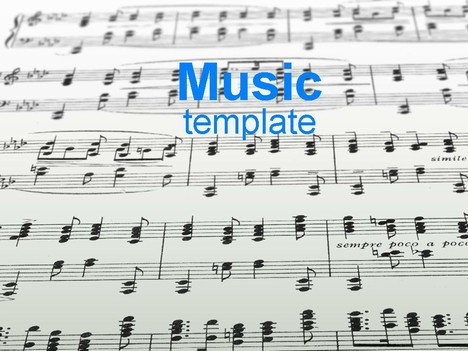 sheet music template, Powerpoint templates