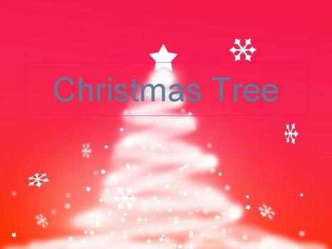 눈 크리스마스 트리 템플릿