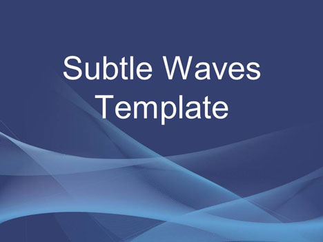 Subtle Waves Business Template