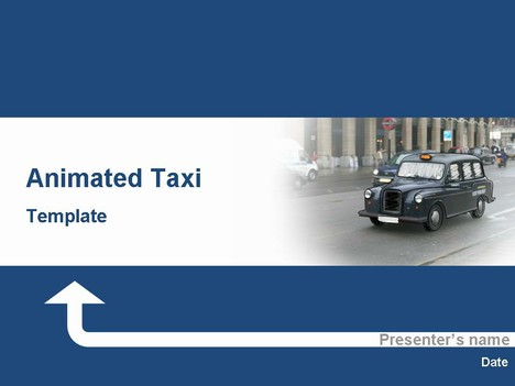 Taxi animated template toneelgroepblik