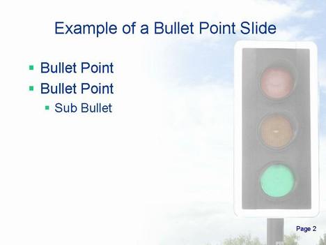 Traffic Lights Animated Template