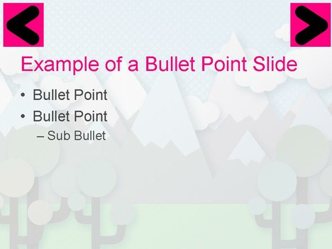 Vector Hills PowerPoint Template inside page