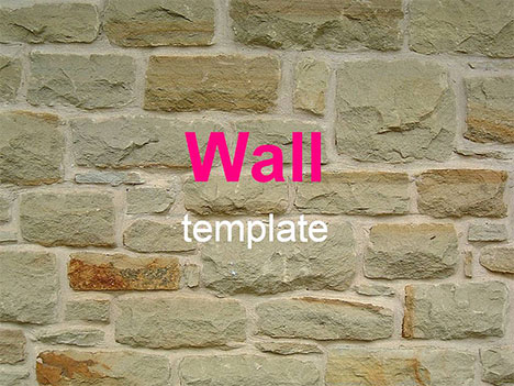 Wall powerpoint template toneelgroepblik Gallery