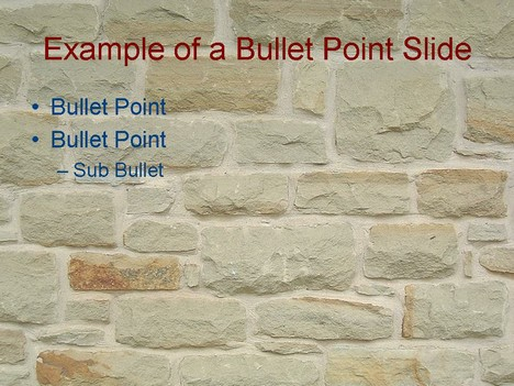 Wall PowerPoint template inside page