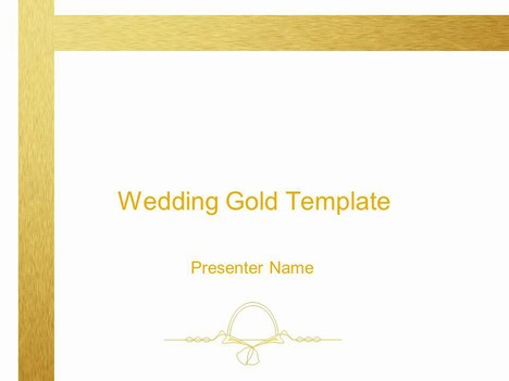 Wedding Gold Decoration template that could be used as a wedding ...
