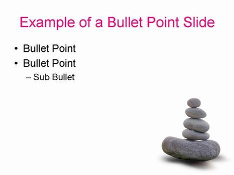 Zen stones template inside page