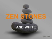 Zen stones template – grey background
