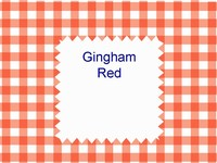 Gingham Red Template thumbnail