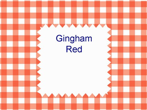 Gingham Red Template