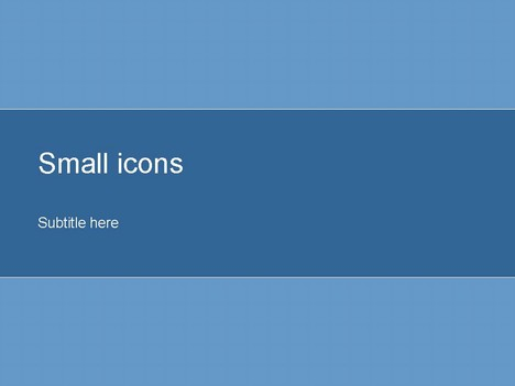 Small Icons Blue