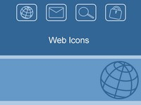 Web icons template thumbnail