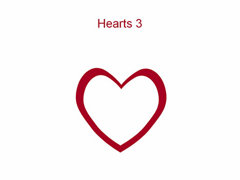 Hearts 3 PowerPoint Template