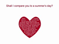 Shall I compare you to a summer's day? template thumbnail