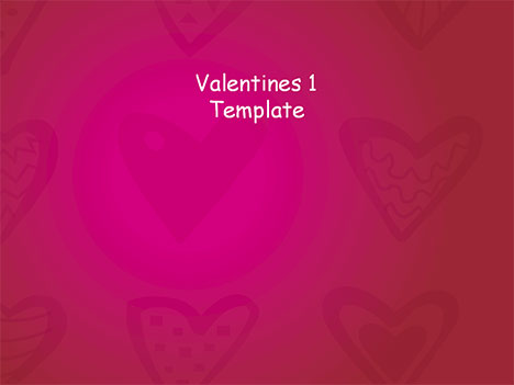 valentine 1 template, Powerpoint templates