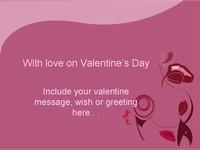 Valentine Violet Template