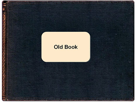 free old book template