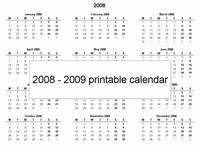 Free 2008 printable calendar template