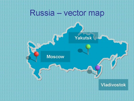 Powerpoint map of Russia