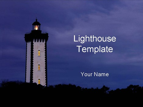 Lighthouse powerpoint template toneelgroepblik