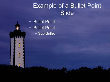 Lighthouse PowerPoint Template inside page