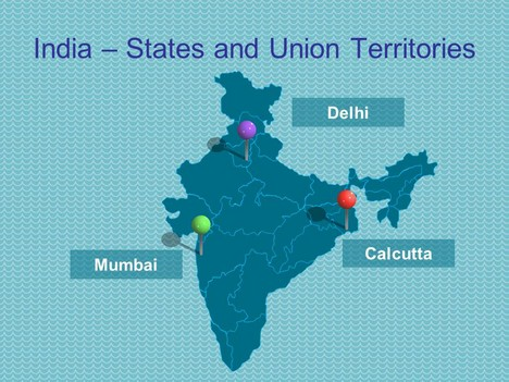 india map ppt template - powerpoint map of india including states