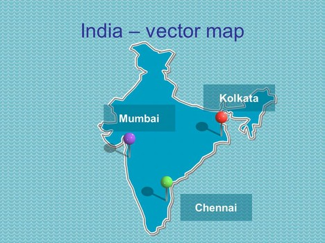 PowerPoint map of India inside page