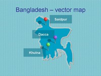 Powerpoint map of Bangladesh