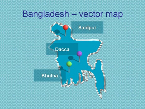 Bangladesh On Map Of Asia.Powerpoint Map Of Bangladesh