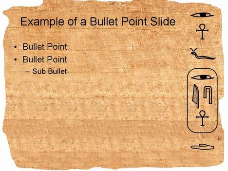 hieroglyph powerpoint template, Powerpoint