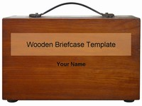 Wooden Briefcase Template