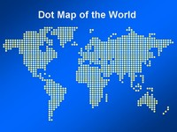 Dot Map of the World Template