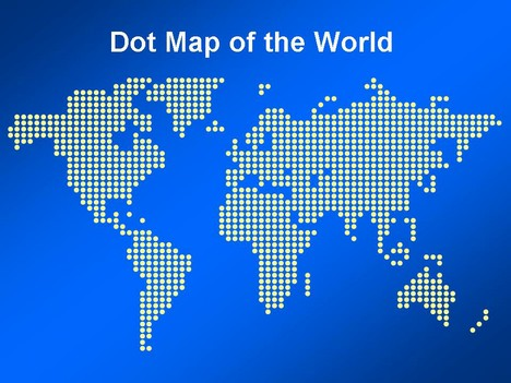 Dot map of the world template gumiabroncs Images