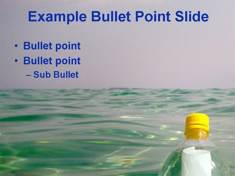 Message in a Bottle Template inside page